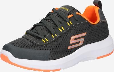 SKECHERS Sneaker 'DYNAMIC TREAD-NITRODE' in neongelb / graphit / hellgrau / neonorange: Frontalansicht