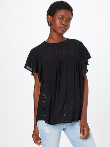 ESPRIT Bluse in Schwarz