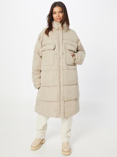 Sixth June Winter Coat in Beige, View model