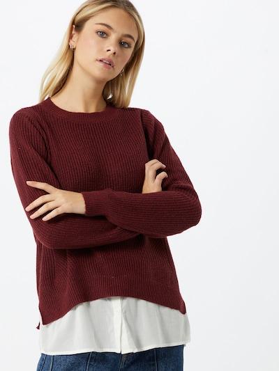 VERO MODA Pullover in rostrot / weiß, Modelansicht