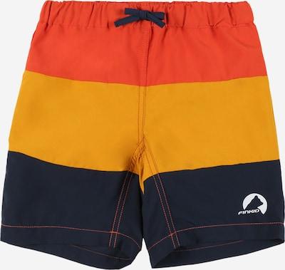 FINKID Peldšorti 'Uimari' naktszils / oranžs / sarkans, Preces skats