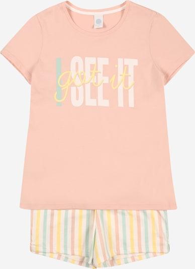 SANETTA Pyjama en turquoise / jaune / rose / blanc, Vue avec produit