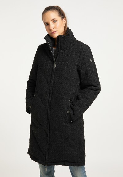 DreiMaster Vintage Winter Coat in Black, View model