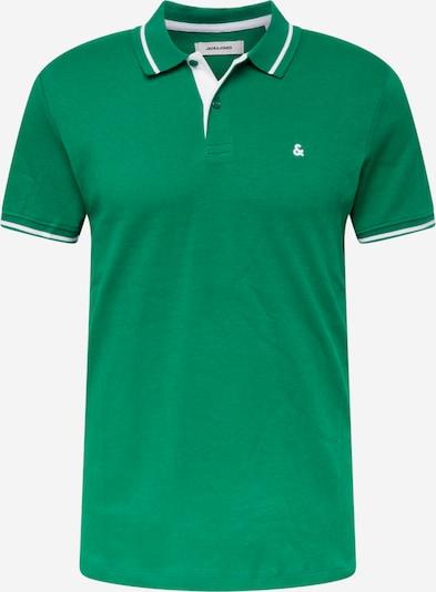 JACK & JONES T-Krekls, krāsa - zāles zaļš / balts, Preces skats