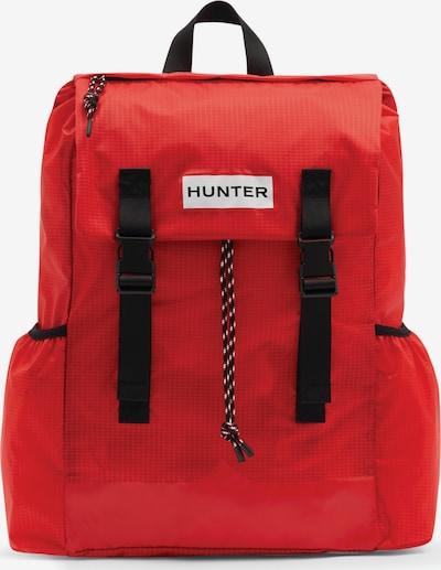 HUNTER Раница в червено / черно / бяло, Преглед на продукта