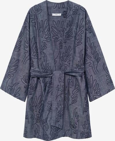 MANGO Kimono 'Brad-A' in navy / taubenblau, Produktansicht