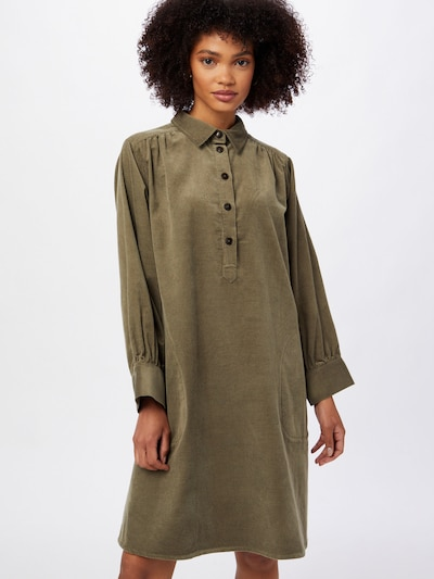Palaidinės tipo suknelė 'Huan' iš Part Two, spalva – rusvai žalia, Modelio vaizdas