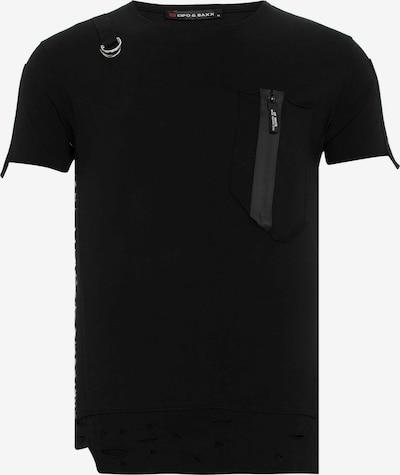 CIPO & BAXX T-Shirt 'Asymetric' in schwarz, Produktansicht