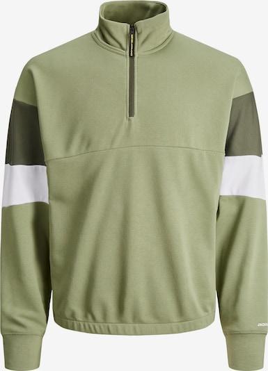 JACK & JONES Sweatshirt 'Logan' in oliv / jade / weiß, Produktansicht