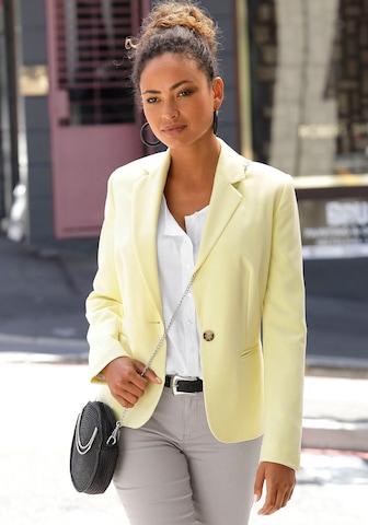 LASCANA Blazer in Yellow