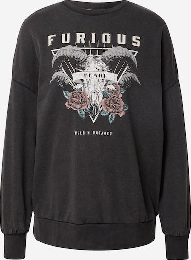 ONLY Sweatshirt 'LUCINDA' in jade / altrosa / schwarz / weiß, Produktansicht