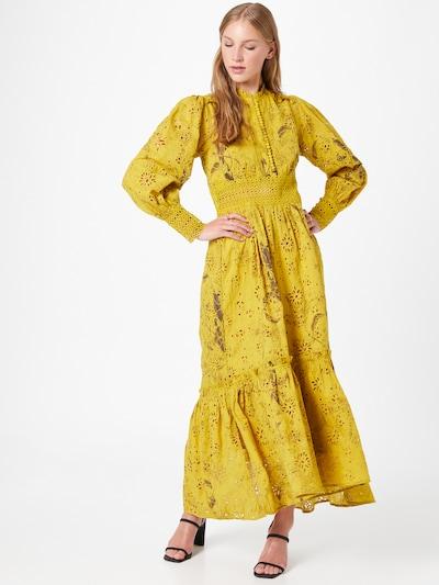 Rochie tip bluză 'Sia' AllSaints pe maro / maro închis / galben muștar, Vizualizare model