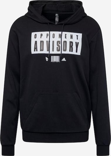 ADIDAS PERFORMANCE Sportsweatshirt 'ADVIS' in schwarz / weiß, Produktansicht