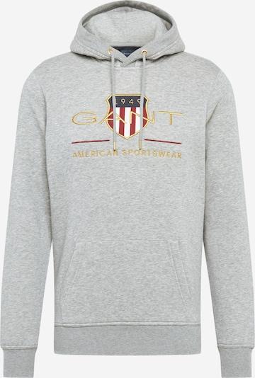 GANT Sweatshirt in gelb / hellgrau / rot / weiß, Produktansicht