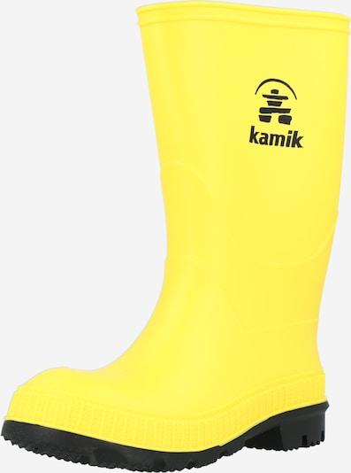 Kamik Regenlaarzen 'STOMP' in de kleur Geel / Zwart, Productweergave