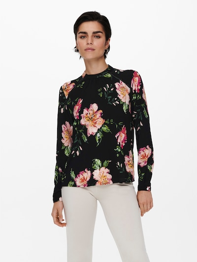 ONLY Blouse in Green / Orange / Pink / Black, View model