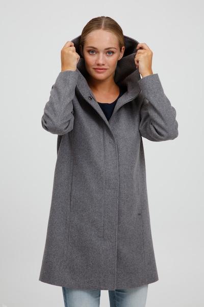 Oxmo Wollmantel 'Nelina' in graumeliert, Modelansicht