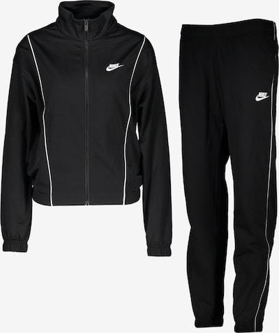 Nike Sportswear Jogginganzug in schwarz / weiß, Produktansicht
