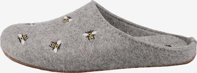 HAFLINGER Hausschuh in gelb / grau / schwarz / weiß, Produktansicht