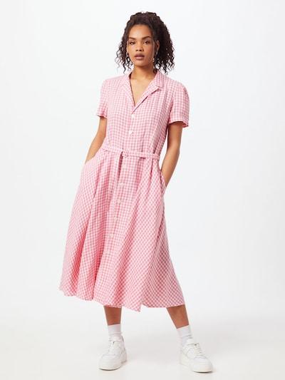 POLO RALPH LAUREN Kleid in hellpink / weiß, Modelansicht
