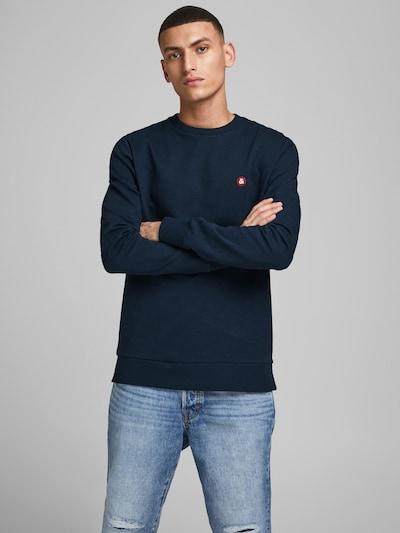 JACK & JONES Sweatshirt in navy / kirschrot / weiß: Frontalansicht