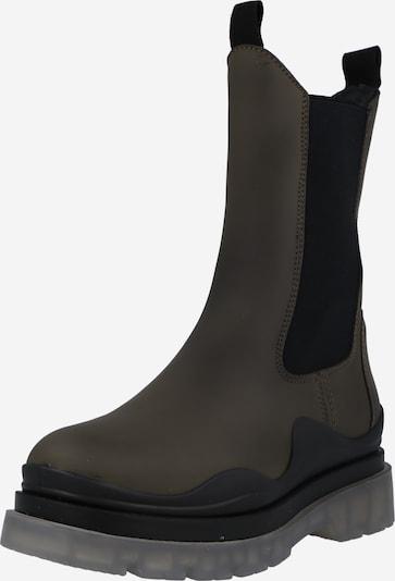 Apple of Eden Chelsea boots 'Rute 49' in de kleur Kaki / Zwart, Productweergave