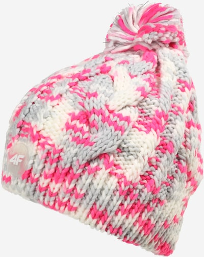 4F Športová čiapka - krémová / svetlosivá / ružová, Produkt