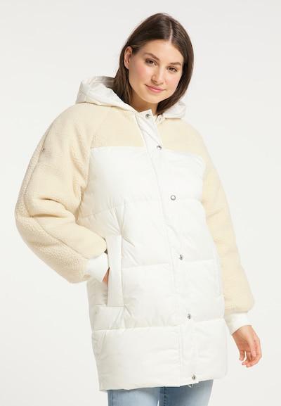 MYMO Wintermantel in beige / weiß, Modelansicht