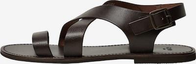 MANGO MAN Sandales en chocolat, Vue avec produit