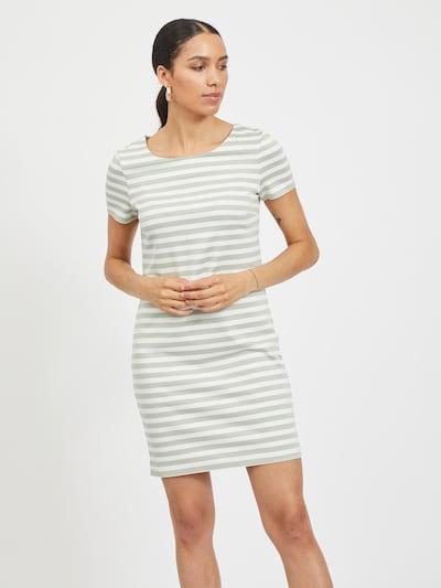 VILA Kleid 'Tinny' in pastellgrün / weiß, Modelansicht