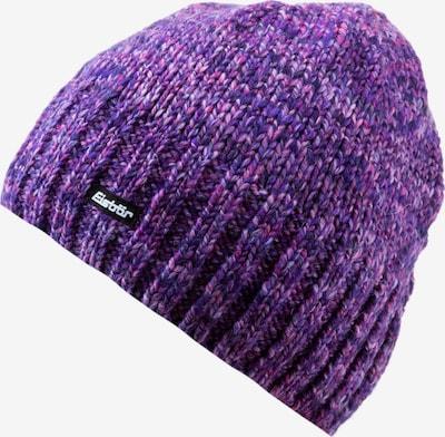 Eisbär Mütze  'Wally' in dunkellila / schwarz / weiß, Produktansicht
