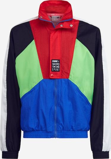 PUMA Jacke 'TFS OG Track Jacket' in blau / neongrün / rot / schwarz, Produktansicht