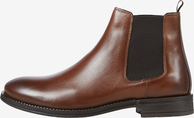 JACK & JONES Chelsea Boots 'Wargo' in cognac / schwarz, Produktansicht