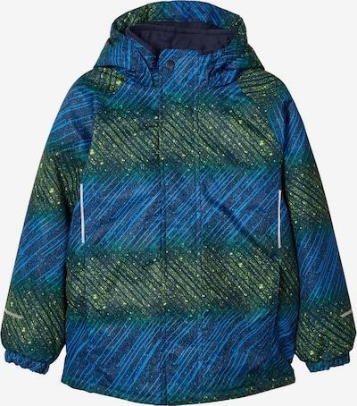NAME IT Skijacke in blau / grün, Produktansicht
