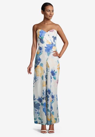 Vera Mont Jumpsuit in de kleur Crème / Blauw / Smoky blue / Geel / Sinaasappel, Modelweergave