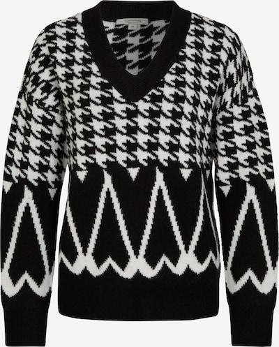 Ci comma casual identity Strickpullover mit Jacquard-Muster in schwarz / weiß, Produktansicht