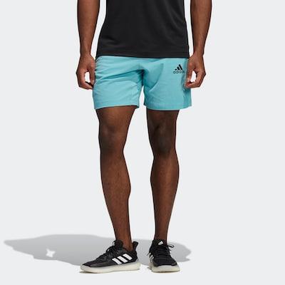 ADIDAS PERFORMANCE Shorts in türkis / schwarz: Frontalansicht