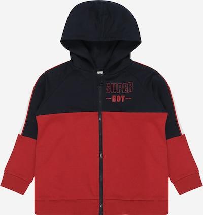NAME IT Sweatjacke 'Ogio' in nachtblau / rot / weiß, Produktansicht