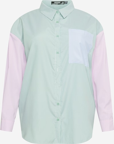 Missguided Plus Chemisier en vert / rose / blanc, Vue avec produit