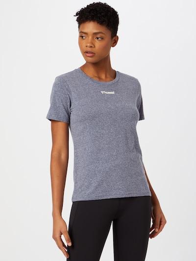 Hummel T-Shirt in taubenblau: Frontalansicht