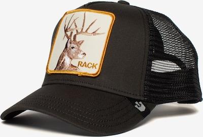 GOORIN Bros. Pet 'RACK IT' in de kleur Lichtbruin / Goudgeel / Zwart / Wit, Productweergave