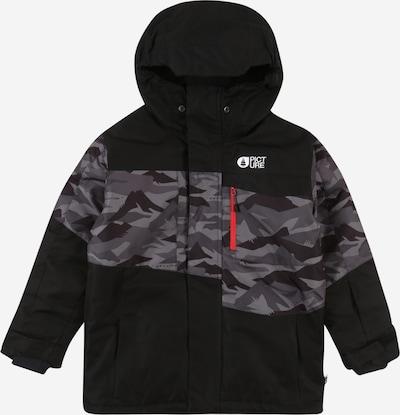 Picture Organic Clothing Sport-Jacke 'MILO ' in grau / dunkelgrau / schwarz, Produktansicht