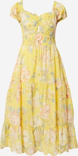 River Island Robe en jaune / vert foncé / orange pastel / blanc, Vue avec produit