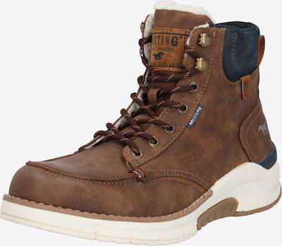 MUSTANG Škornji | temno modra / rjava barva, Prikaz izdelka