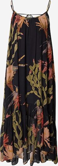 AllSaints Robe 'Paola' en olive / orange clair / rouge orangé / noir, Vue avec produit