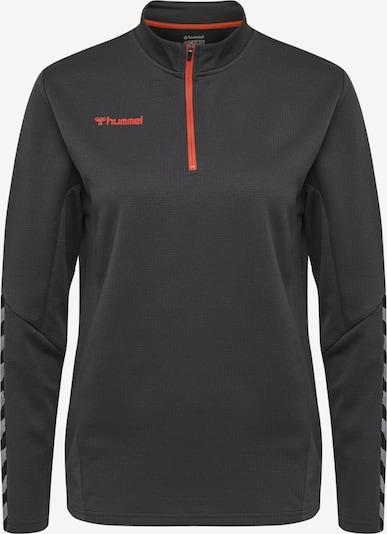 Hummel Sweatshirt in graphit / graumeliert / hellrot / schwarz, Produktansicht
