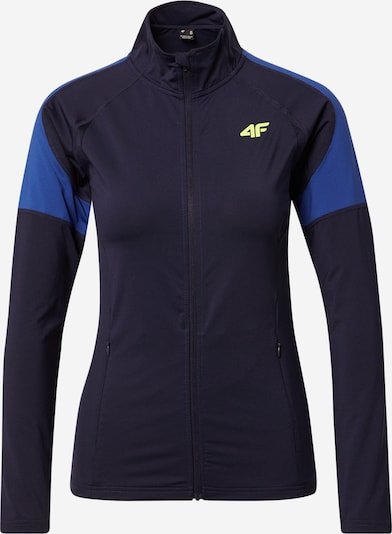 4F Sportsweatjacka i blå / mörkblå / gul, Produktvy