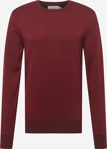 Sweat-shirt Calvin Klein en rouge