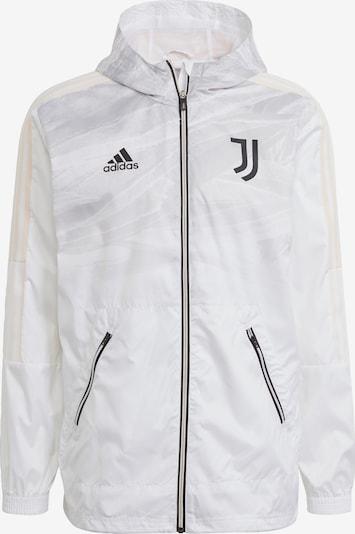 ADIDAS PERFORMANCE Sportjacke 'Juventus Turin' in creme / grau / schwarz / weiß, Produktansicht