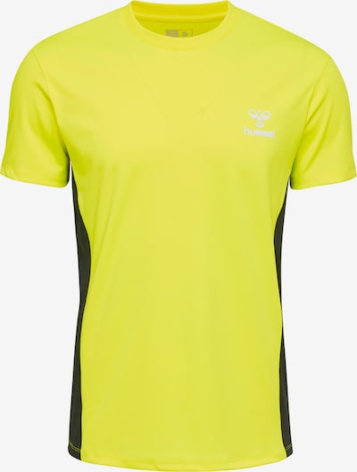 Hummel T-shirt S/S in gelb / schwarz / weiß: Frontalansicht